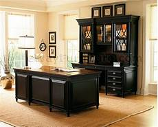 black home office furniture american federal black executive desk
