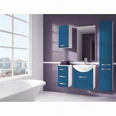 meuble salle de bain bleu iris bleu salle de bain 1m20 6 elements achat vente