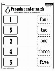 15 number matching free printable worksheets for your winter theme