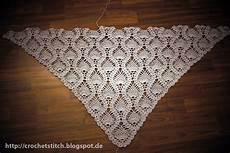 Dreieckstuch Häkeln Anleitung - crochet knitting stitch juni 2013