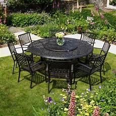 table de jardin ronde maisie meubles de jardin table ronde de 180 cm aluminium