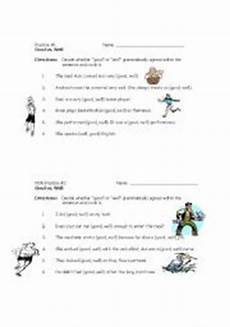 english worksheets good well short practices