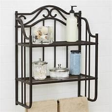 etagere bathroom chapter bathroom storage wall shelf rubbed bronze