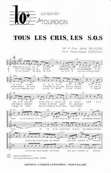 tous les cris les sos partition de musique 233 diteur de partitions pour chorale