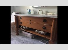 Converting Antique Dresser To Bathroom Vanity   THE