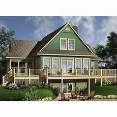 house plans bungalow with walkout basement thehousedesigners 1150 cottage house plan with walkout