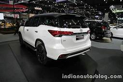 2016 Toyota Fortuner TRD Sportivo Rear Quarter At The