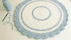 como fazer um tapete redondo de croch 234 com fio de malha croch 234 circular perfeito aula de