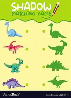 dinosaur matching worksheets 15344 matching dinosaur shadow worksheet royalty free vector image
