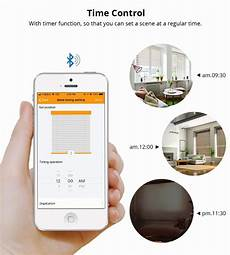 Moeshouse Smart Motorized Chain Roller Blinds by Bluetooth Smart Elegance European Chain Motor With