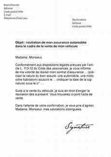 resiliation assurance auto vente lettre de r 233 siliation direct assurance vente v 233 hicule
