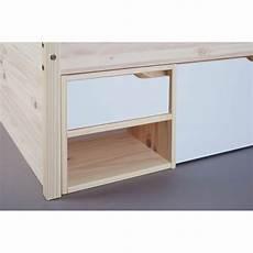 bureau lit combiné lit combin 233 adulte contemporain pin massif naturel blanc
