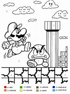 color by number worksheets mario 16199 mario brothers color by number coloring page for activities print