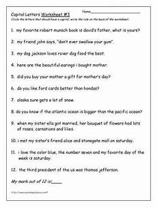 worksheets on punctuation and capital letters 20863 capital letters worksheet 3 capital letters worksheet letter worksheets punctuation worksheets