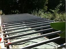 poutre acier ipn terrasse bois piloti structure en poutrelles acier type