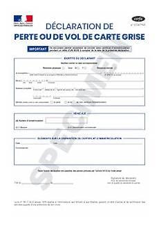 D 233 Claration De Perte Ou De Vol De Carte Grise Cerfa