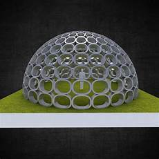 3d Model Dome Structure With Panels Geodesic Shape