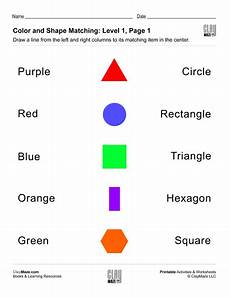 colors shapes worksheets 12808 match the shapes and colors level 1 page 1 childrens educational workbooks books and free