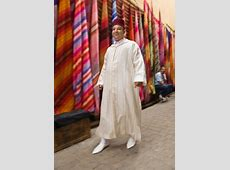 139837539 man in traditional moroccan clothing walking