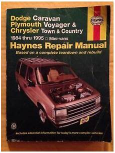 car repair manuals download 1992 plymouth voyager navigation system 1984 1985 1992 1993 1994 1995 dodge caravan plymouth voyager repair manual 9781563921322 ebay