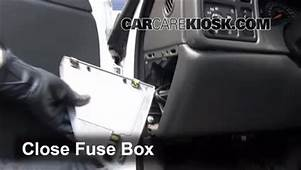 Interior Fuse Box Location 1999 2007 Chevrolet Silverado