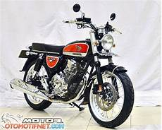 Modifikasi Motor Cb 100 Mesin Tiger by Modifikasi Yamaha Scorpio Ini Jadi Cb100 Lawas
