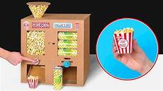 cardboard diy plus popcorn plus soda plus equals