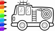 how to draw a firefighter truck