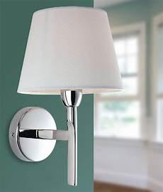 chrome arm wall light with choice of shade finish