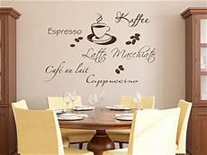 wandtattoos küche esszimmer wandtattoo kaffee style mit kaffeebohnen wandtattoo