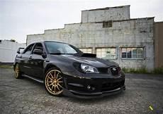 black subaru with gold wheels mmm cars subaru jdm