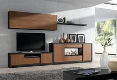 ensemble de meubles tv modernes chne marron et noir