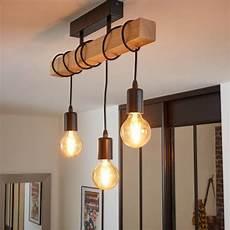 leroy merlin luminaire salon plafonnier industriel e27 townshend bois noir 3 x 60 w