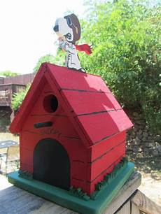 snoopy dog house plans snoopy and the red baron birdhouse or bank by