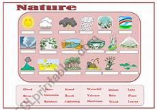 worksheets about nature 15097 nature vocabulary esl worksheet by mmargalef