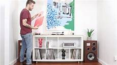 ikea kallax diy diy media record console ikea hack kallax bookcase