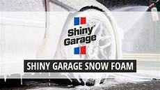 shiny garage snow foam