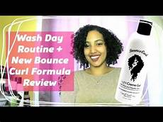 wash day routine new bounce curl formula review geena lopes youtube