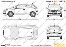 The Blueprints Vector Drawing Opel Corsa D