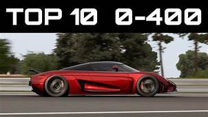 TOP 10 FASTEST 0 400 CARS  Forza Motorsport 7 Crazy