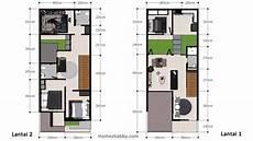 Desain Dan Denah Rumah Minimalis Ukuran 6 X 15 M 2 Lantai