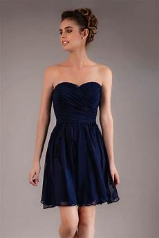 strapless navy blue cocktail dress