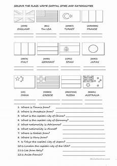 free worksheets pronouns 18678 capital cities countries and nationalities worksheet free esl printable worksheets made by