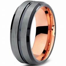 charming jewelers tungsten wedding band ring 8mm for men