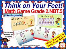 grade 2 think your feet math interactive test prep game add subtract within 100 2 nbt 5 by