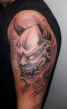 tatouage homme oni mask tattoos designs ideas and meaning tattoos for you