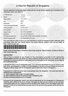 what is singapore evisa and visa sticker singapore visa
