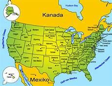 Usa Landkarte L 228 Nder Usa Goruma