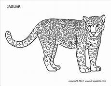 jaguar free printable templates coloring pages