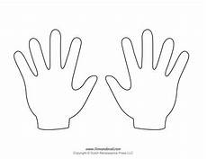 Blank Template Printables Handprint Templates
